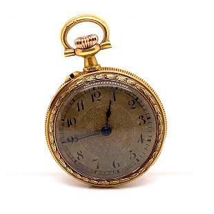18k Ladies Pocket Watch Enamel Work