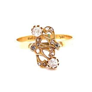 Art Nouveau 18k Diamond Ring