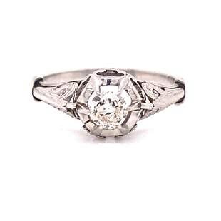 1920's Platinum Diamond Engagement Ring