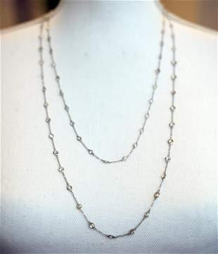 Platinum Diamond by the Yard Long Chain