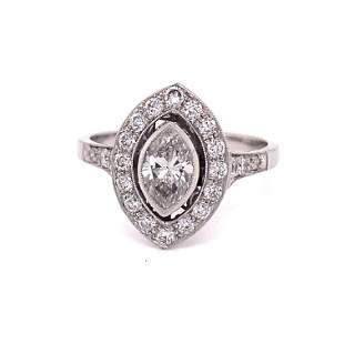 Platinum Diamond Marquise Engagement Ring