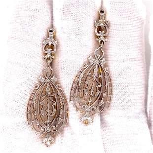 Edwardian 18k Earrings