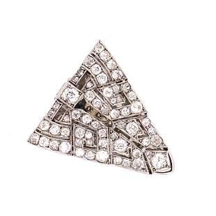 Platinum Art Deco Diamond Clip