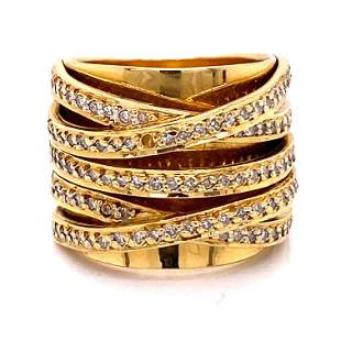 18K Diamond Contemporary BandÊ