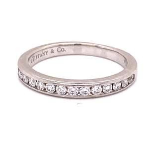Tiffany & Co Platinum Diamond BandÊ