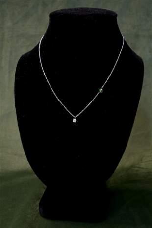 Tiffany & Co Platinum Diamond Pendant