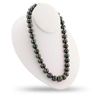 14K Black Tahitian Pearl Necklace