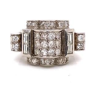 Chevalier 1940's 18k Diamond Ring