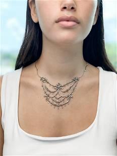Platinum Garland Belle Époque Necklace
