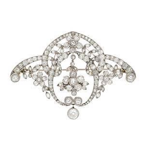 Platinum Belle Epoque Brooch