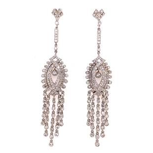 Platinum Diamond Chandelier Earrings