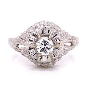18k 1930's Diamond Engagement Ring