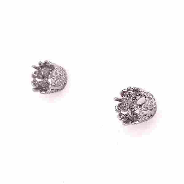 18k Stud Earrings Mount