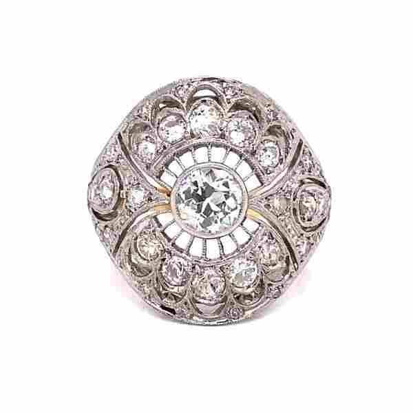 18k Platinum Diamond Ring