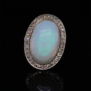 18k 1920's Rosetta Opal Ring