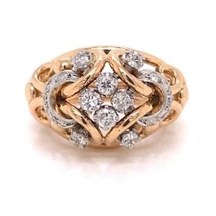 1940's 18k Retro Diamond Ring