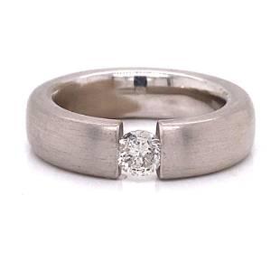 Platinum Chanel Setting Diamond Engagement Ring