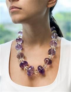 Amethyst Crystal Bead Necklace
