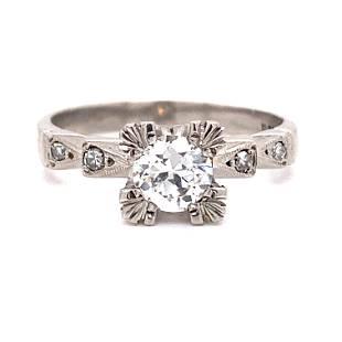 1920Õs PlatinumÊ Diamond Engagement Ring