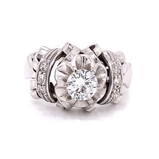 1940's 18k Diamond Engagement Ring