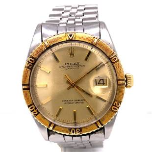ROLEX 1625 Thunderbird 18k Gold Bezzle Watch