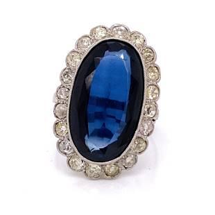 1920's Platinum Diamond Rosetta Ring