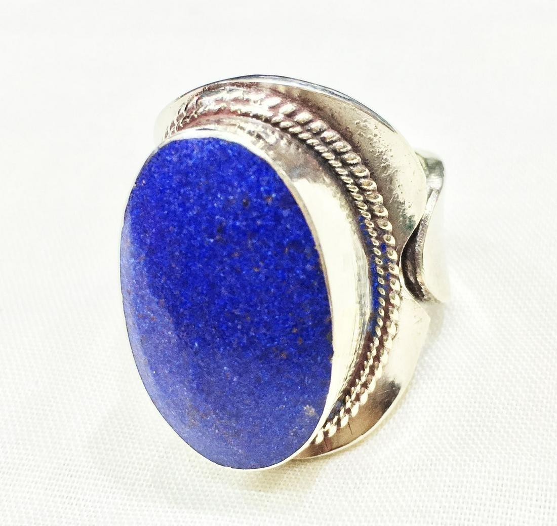Free Size - Vintage Tibetan Handmade Amber Ring