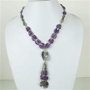 Natural Amethyst Handmade beaded Necklace