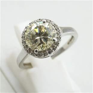 7 MM 925 Sterling Silver Natural Moissanite Diamond