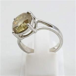 6.5 MM 925 Sterling Silver Natural Moissanite Diamond