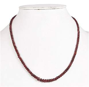 Natural Burma Red Spinel Necklace 3 MM To 6 MM 65 CT