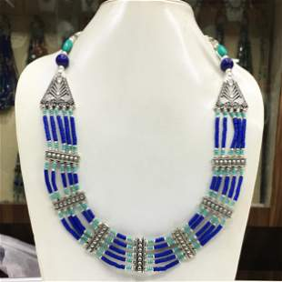 Tibetan Lapis Handmade Beaded Necklace