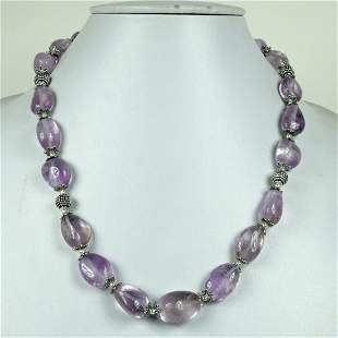 Natural Amethyst Handmade Beaded Necklace