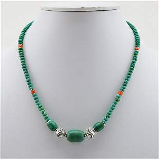 Natural Old Tibetan Turquoise Beaded Necklace