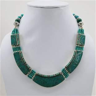 Tibetan Turquoise Handmade Boho Choker Necklace