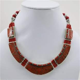 Tibetan Natural Coral Handmade Chokar Necklace