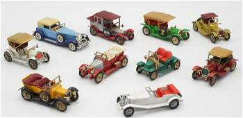 Zehn Matchbox Models of Yesteryear, 1963-1976
