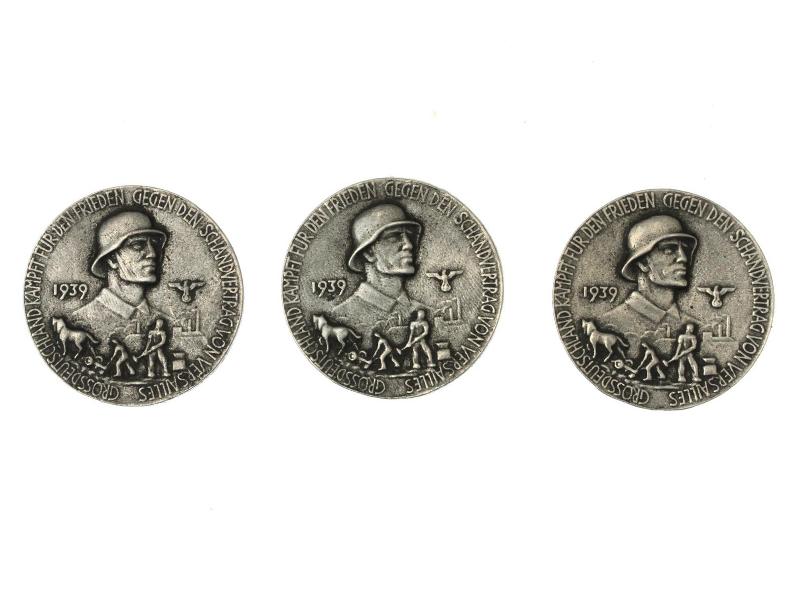 VINTAGE GERMAN ANTI-SEMITIC MEDAL COINS