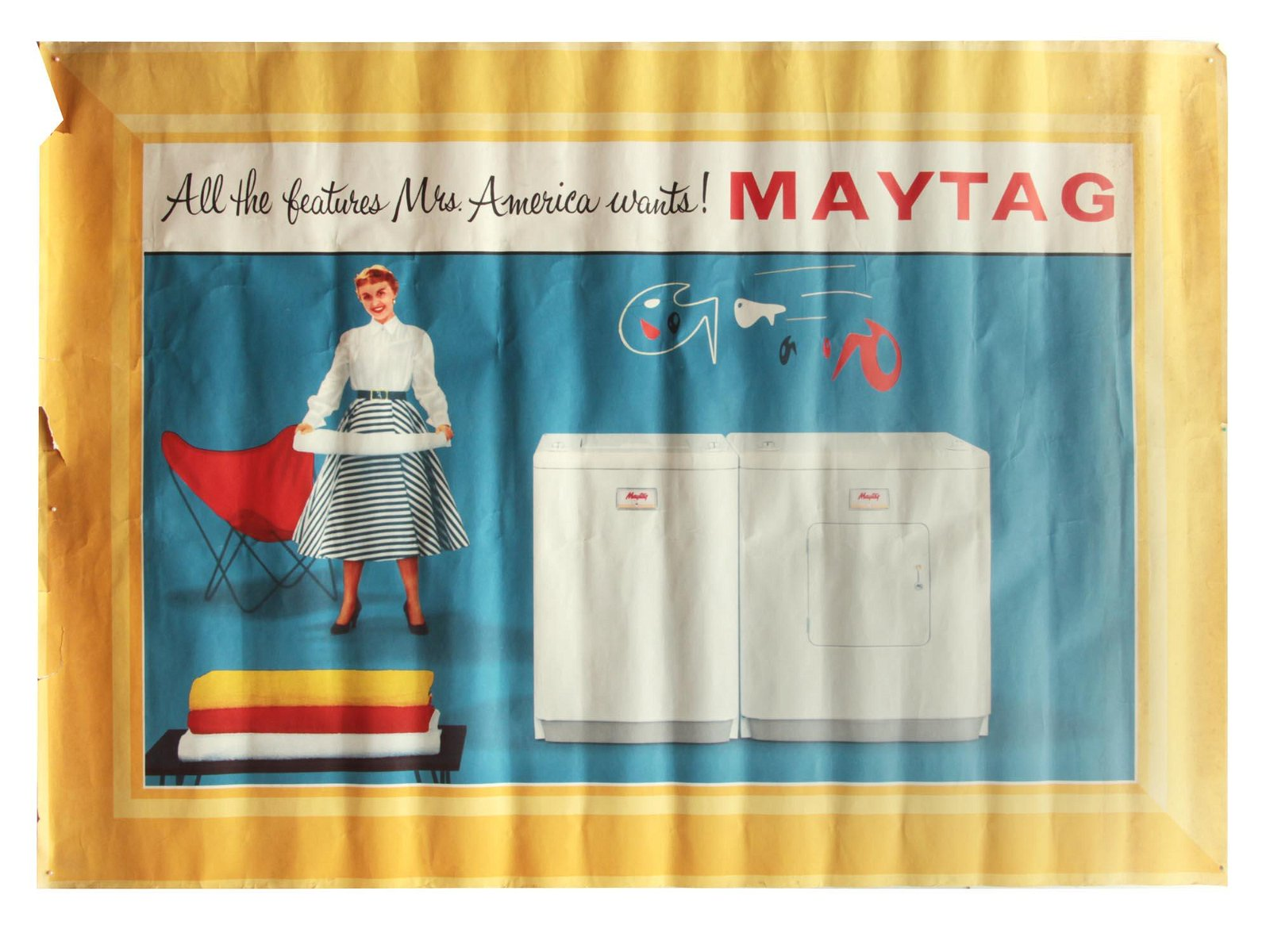 A VINTAGE AMERICAN ADVERTISING POSTER