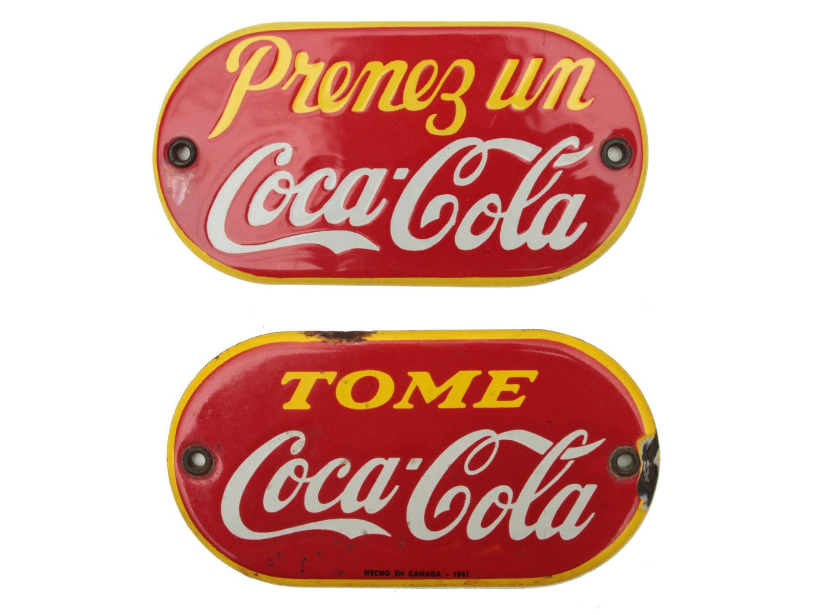 VINTAGE COKE ADVERTISING DOOR PALM PUSH PLATES