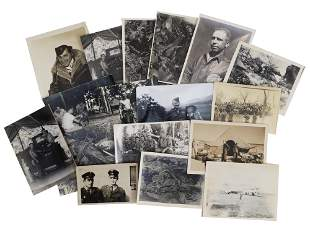 A GROUP OF 17 VINTAGE MILITARY PHOTOGRAPHS