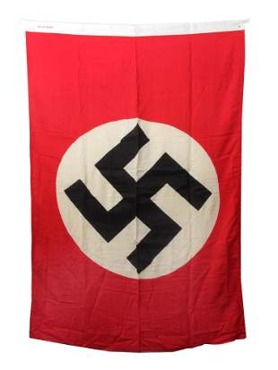 A LARGE GERMAN WWII NSDAP PARTY FLAG