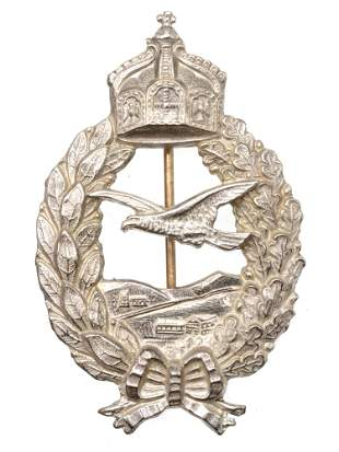 A WWI GERMAN IMPERIAL LUFTWAFFE ARMY PILOT BADGE