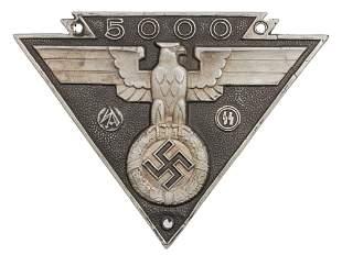 A GERMAN WWII SS SA MILITARY BIKER PLAQUE