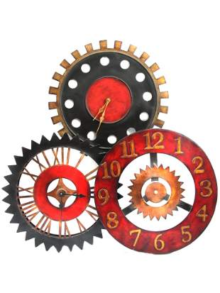 A VINTAGE WALL CLOCK BY TIMEWORKS UTTERMOST