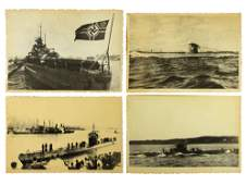 A LOT OF FOUR VINTAGE WWII MILITARY PHOTOGRAPHS