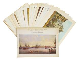A VINTAGE RUSSIAN ALBUM OF PAINTING REPRODUCTIONS
