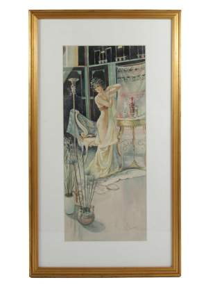 A RUSSIAN WATERCOLOR PAINTING BY SERGE DE SOLOMKO