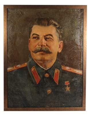 A RUSSIAN SOVIET OIL PAINTING BY SEMEN ROTNITSKI