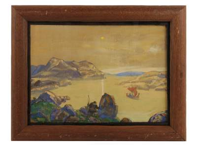 A RUSSIAN PAINTING ATTRIBUTED TO NICHOLAS ROERICH